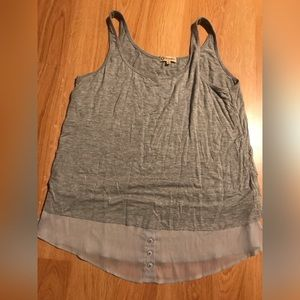 FREE with purchase! Democracy Grey Layer Tank L
